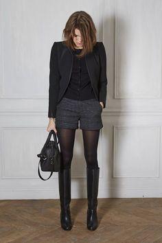 Isabella Fiorentino ensina a usar shorts e meia-calça no inverno