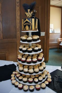 Great Gatsby wedding cupcake tower - Google Search