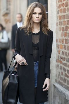 This model moment was brought to you by sheer. | All the Best Street Style Straight From Milan Fashion Week! | POPSUGAR Fashion Photo 173