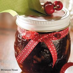Gooseberry Patch Recipes: Easy Festive Cranberry Honey - melt whole cranberry sauce and orange marmalade, add to honey!