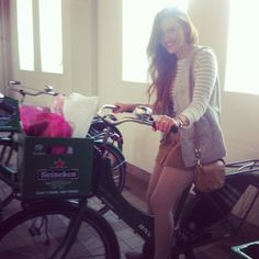 Holland looking super cute (as always) while vacationing in Europe.