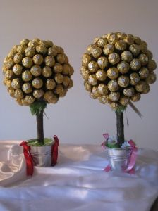 These babys thanks to Kirsch Lewis will be a hit for the xmas day lunch xx Christmas Time, Christmas Crafts, Xmas, Ferrero Rocher Tree, Color Themes, Sweets, Lunch, Chocolate, Fruit