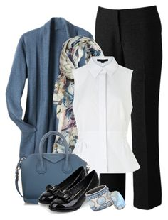 """""""Blue-Grey Cardi"""" by trishica ❤ liked on Polyvore featuring Apt. 9, TravelSmith, Elizabeth Gillett, Alexander Wang, Givenchy, Chico's and ADORNIA"""