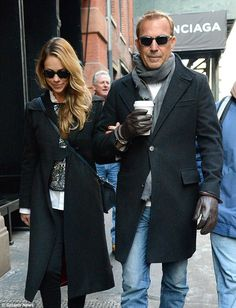 Kevin Costner and wife Christine Baumgartner warm up chilly New York on a romantic stroll