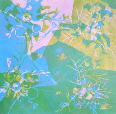 sans titre - Linogravure réalisée par Aimée Yamamoto. Format 20 x 20 cm.