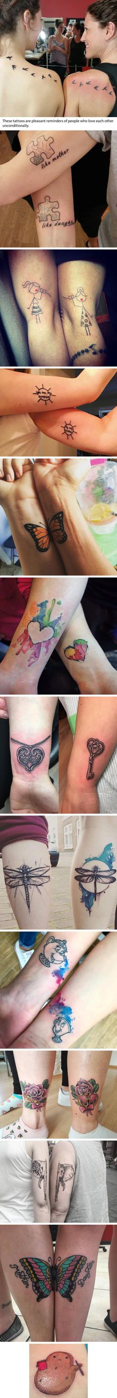 Mother-Daughter Tattoos Celebrating Their Special Life-Long Bond