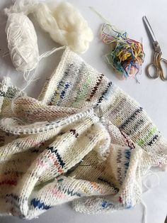 """With Her """"Alone Together"""" Sweater, Lærke Bagger Hopes to Bring Crafters Together - DIY Sweater Knitting Patterns, Hand Knitting, Crochet Patterns, Knitting Ideas, How To Purl Knit, Cool Sweaters, Pin Collection, Knit Crochet, Stitch"""