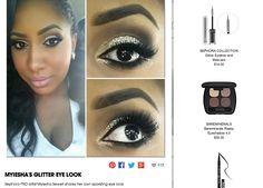 Sephora PRO artist Myiesha Sewell shares her own sparkling eye look Diy Beauty, Beauty Makeup, Eye Makeup, Beauty Hacks, Hair Makeup, Urban Decay Revolution Lipstick, Beauty And The Beat, Makeup Tattoos, Beauty Shots