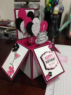 Stampin' Up!, Card in a Box, Sketched Birthday, Balloons