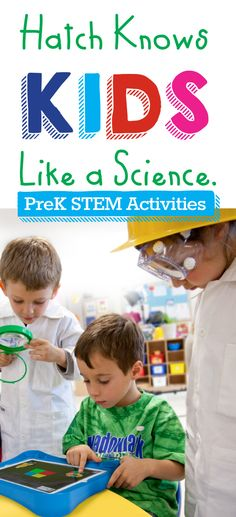 Hatch knows kids like a science! Click to find out more about Hatch STEM kits #preschool