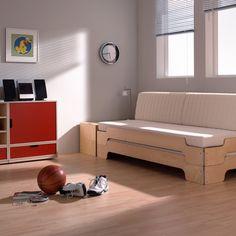 modular Bettkasten und Stapelliege