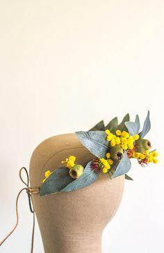 Australian Native Rustic Wedding Flower Crown by crownsofgloryau