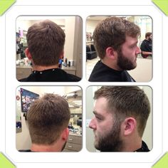 Men's cut: before and after