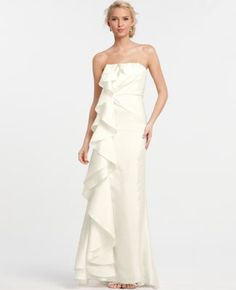 Not a big fan of strapless dress but this is pretty.  It would have been better if the ruffles were on the back....