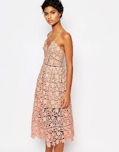 rewardStyle Self Portrait Azaelea Dress - Blush pink by: Self Portrait @ASOS (US)