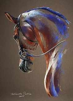 33 Horse Drawing Ideas With Crayon - Art Horse Drawings, Animal Drawings, Art Drawings, Creation Art, Horse Artwork, Dressage Horses, Horse Horse, Animal Paintings, Horse Paintings