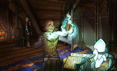 Commission for a depiction of an Elder Scrolls Online toon, Andrea the Roleplayer. Elder Scrolls Online, Deviantart, Fantasy, Imagination, Fantasy Books