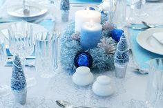 クリスマステーブルコーデ青
