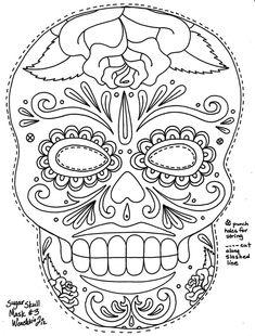 Sugar Skull Coloring Pages | Sugar skulls, Sugaring and Skull design
