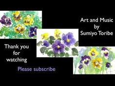 How to paint Pansy in 3 different technique in watercolor - YouTube