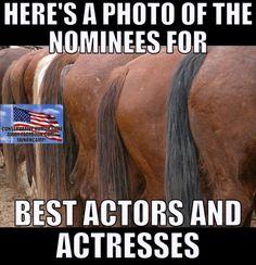 Nominees for Best Actors & Actresses - Liberal Hypocrite Celebrities!