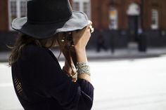 Vintage hat and Quiksilver Women dress