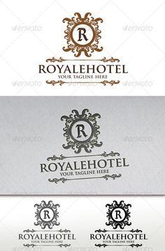 Royale Hotel Crest Logo Template - Crests Logo Templates