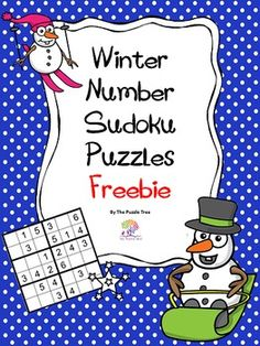 FREEBIE Winter Number Sudoku Puzzles by The Puzzle Tree
