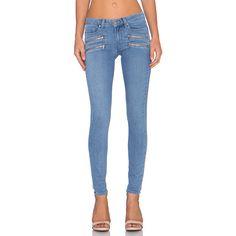 Paige Denim Edgemont Ultra Skinny Denim ($161) ❤ liked on Polyvore featuring jeans, paige denim jeans, skinny fit jeans, paige denim, blue skinny jeans and frayed skinny jeans