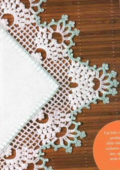 Crocheted edging...GREAT corner diagram