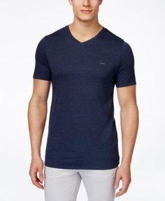 Michael Michael Kors Men's Arlington V-Neck T-Shirt - Blue XL