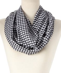Look at this Blue Check Cashmere Infinity Scarf on #zulily today!