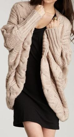 Chunky Twisted Cable Cardigan ♥