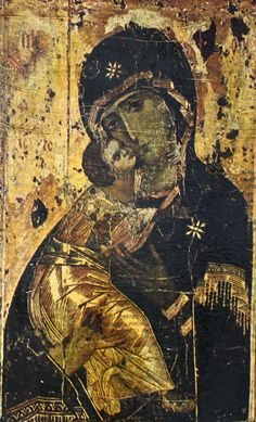 Religious Art Virgin of Vladimir Decoupage by PeriodElegance www.periodelegance.etsy.com