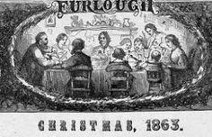 Christmas 1863.  Dinner during the Civil War
