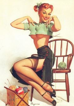 Love old school pin-ups!