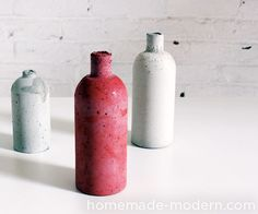 Learn how to easily color concrete and use silicone to make reusable molds for casting concrete.