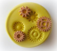 Gears Steampunk Mold Gothic Jewelry DIY Resin Clay by WhysperFairy, $5.95