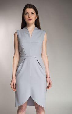 Сукня Circles сіро-блакитна