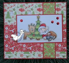 Margreet's scrapcards: alicia Bel, Card, Christmas, Santa Claus, Copic