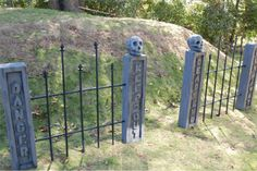 wrought iron cemetery fence