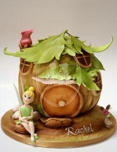 bell, fairi hous, amaz cakescupcakes5, cake sampl, hous cake, cake birthday, tinkerbel cake, tinkerbel fairi, fairi cake