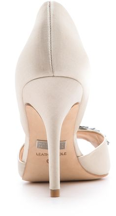 Shoeniverse: BADGLEY MISCHKA Vanilla Nikki Satin Pumps - for the The No White Shoes Bride