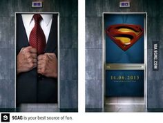 A clever Superman ad