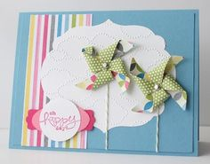 Love the pinwheels on this card.  What a cute way to use the Pinwheel Sizzlit from the Spring Catalog!