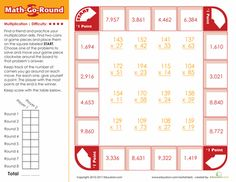 Worksheets: Math-Go-Round: Multiplication