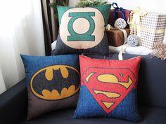 superman Batman Green Lantern Sign Mark linen cushion pillow pillow sham bedroom sitting room adornmentpillow cover pillow sham on Etsy, $18.30 CAD