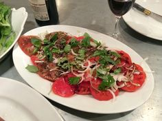 #Tomato and onion #salad made with the beautiful tomatoes from Marche Quai St Antoine in Lyon