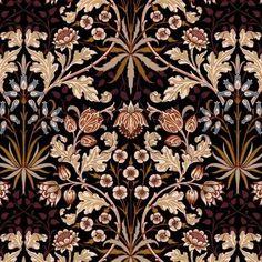 Blue Carnations, Luxury Wallpaper, Wallpaper Samples, Nocturne, William Morris, Natural World, Flourish, Black House, Art Nouveau