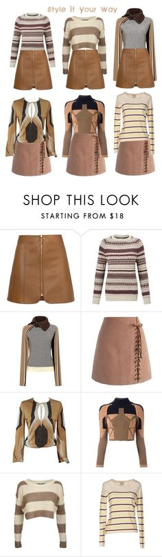 """""""Style it Your Way 2017 -1"""" by alexxa-b ❤ liked on Polyvore featuring Barbour Heritage, Carven, Chicwish, Gucci, adidas Originals, Pilot, Maison Scotch, brown and styleityourway"""